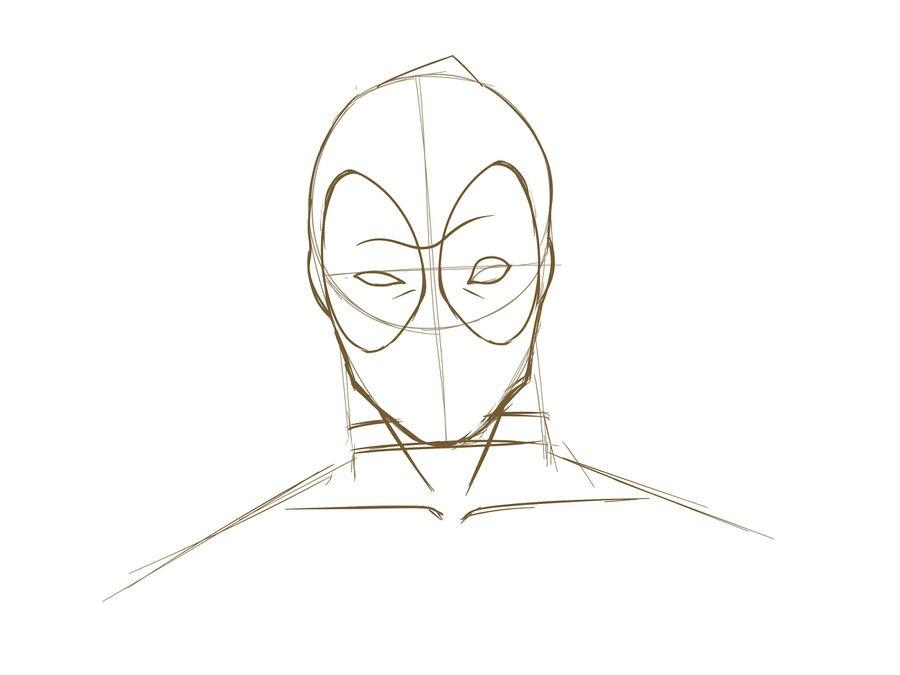 11. Как нарисовать дэдпула поэтапно
