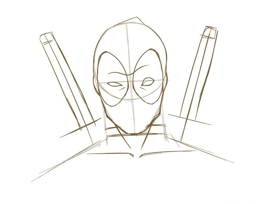 13. Как нарисовать дэдпула поэтапно