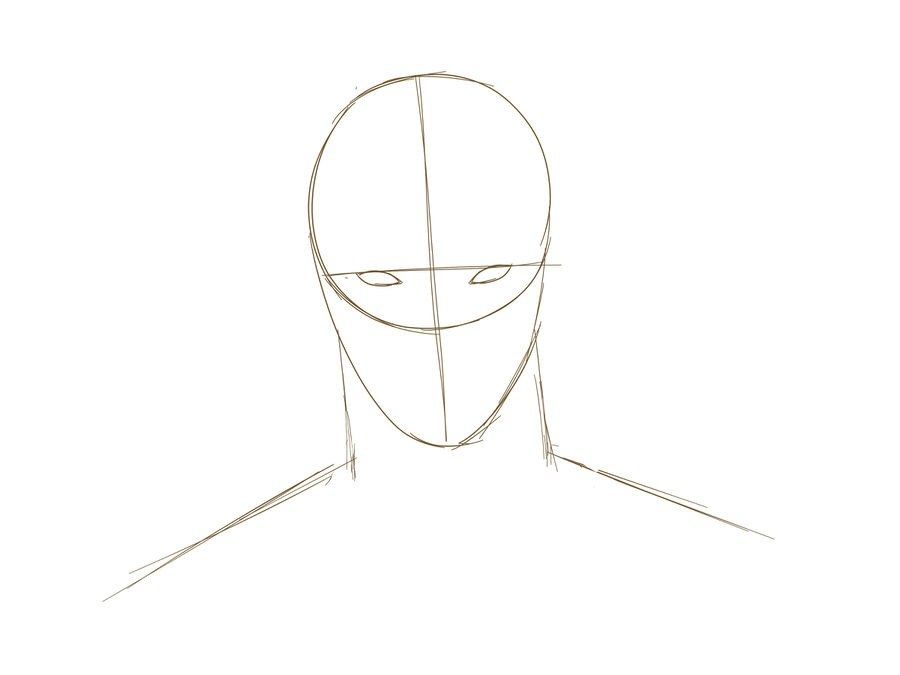 04. Как нарисовать дэдпула поэтапно