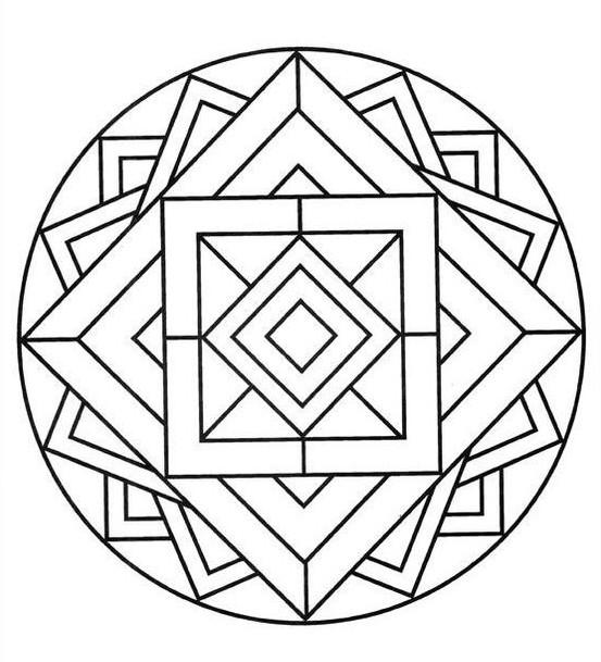 Мандалы для раскрашивания распечатать со значением легко