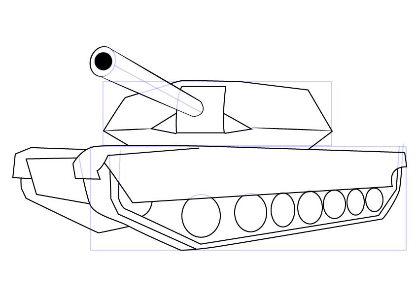 12. Как нарисовать танк поэтапно