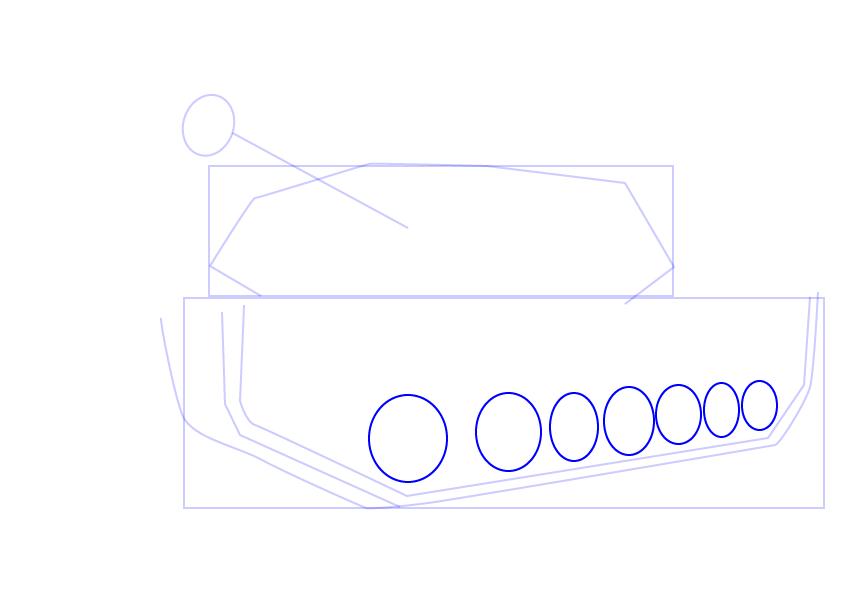 07. Как нарисовать танк поэтапно