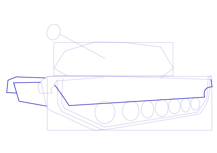 09. Как нарисовать танк поэтапно