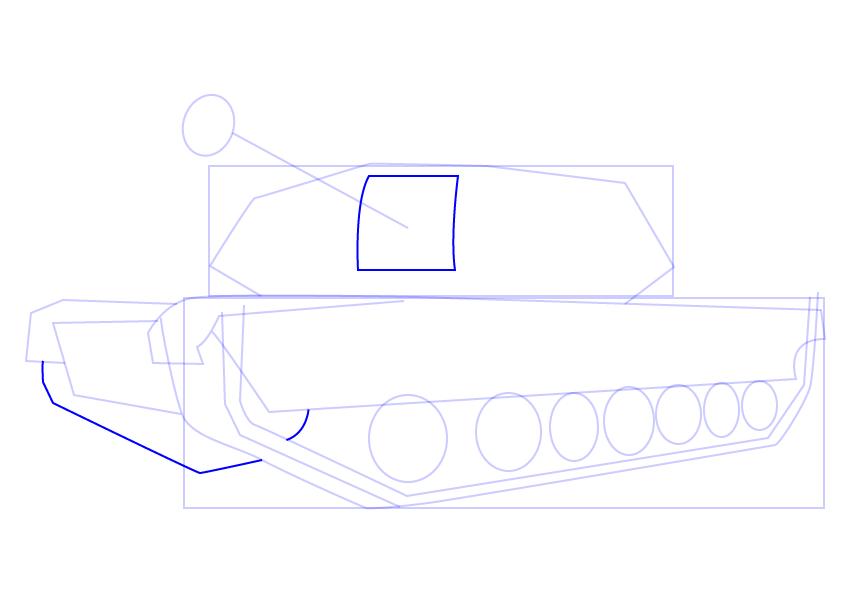 10. Как нарисовать танк поэтапно