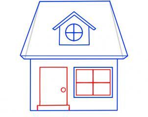 07. Как нарисовать дом - несложный вариант для детей