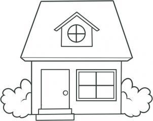 09. Как нарисовать дом - несложный вариант для детей