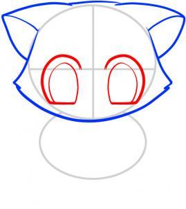 04. Как нарисовать котенка в мультяшном стиле