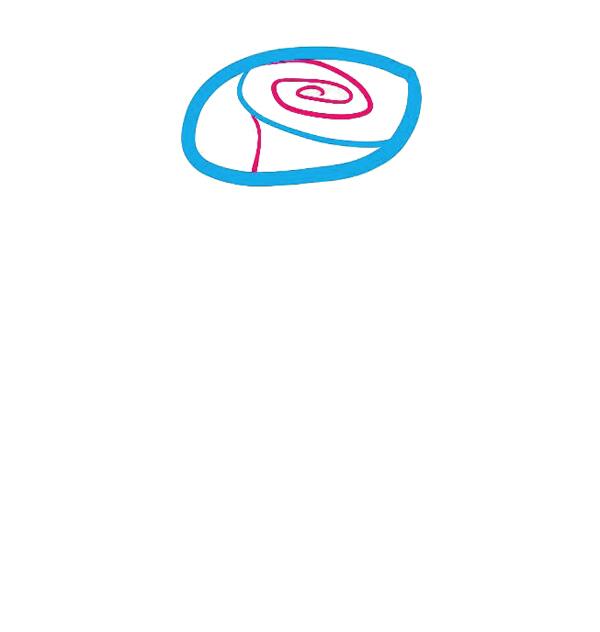 03. Как рисовать розу - семь простых шагов