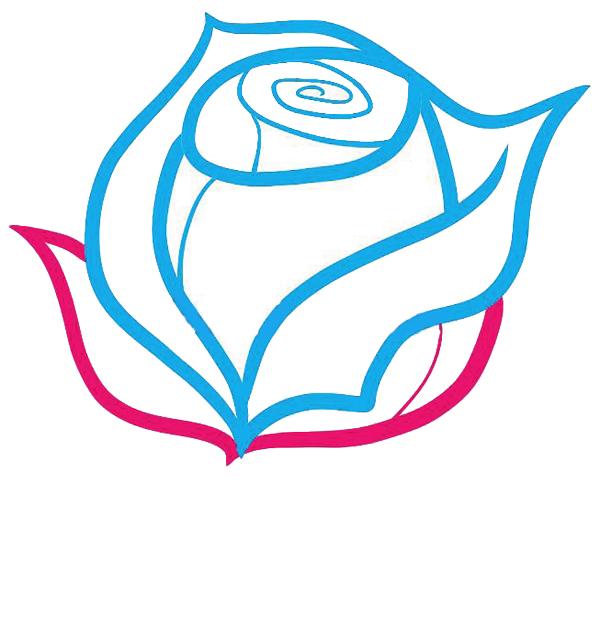 06. Как рисовать розу - семь простых шагов