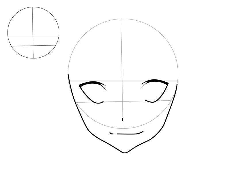 02. Как рисовать аниме – рисуем Рюко Матои