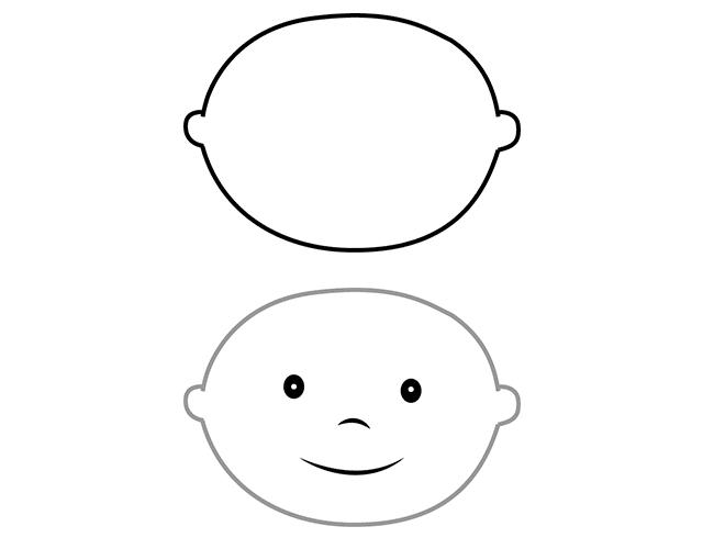 02. Как нарисовать ангела поэтапно