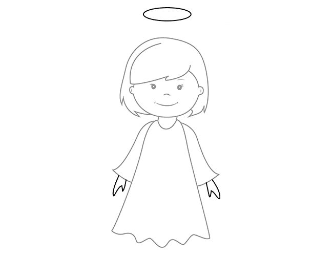 06. Как нарисовать ангела поэтапно