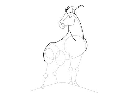 05. Как нарисовать лошадь поэтапно