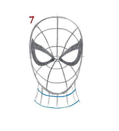 08. Как нарисовать человека паука начинающим