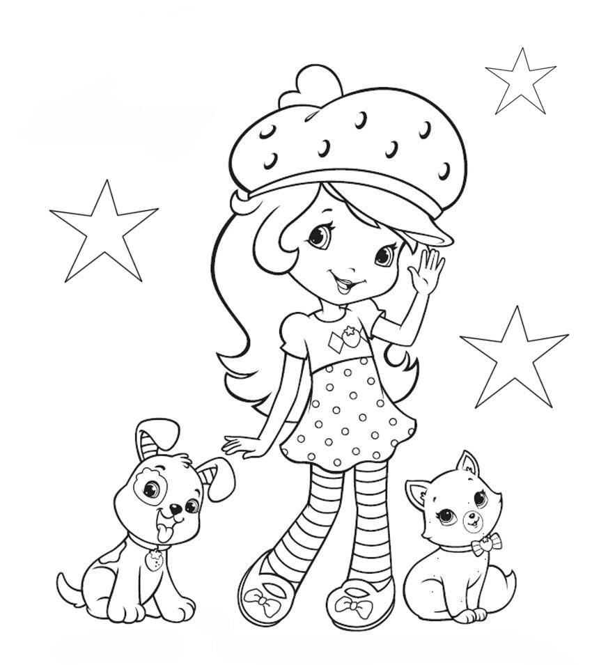Интересные раскраски для девочек распечатать