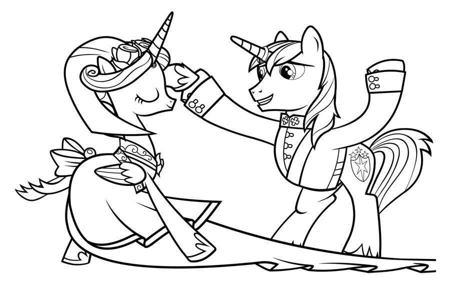 Раскраски пони из мультфильма My Little Pony