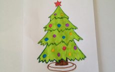 рисунок новогодней елки с помощью карандаша