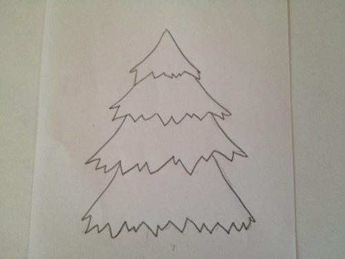 от треугольника рисуем похожие трапеции-3 штуки