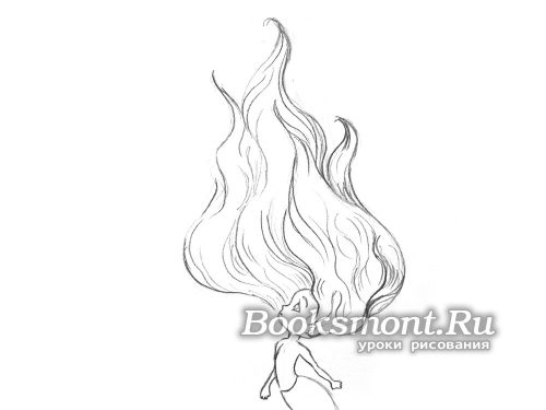 волосы с изгибами у русалочки
