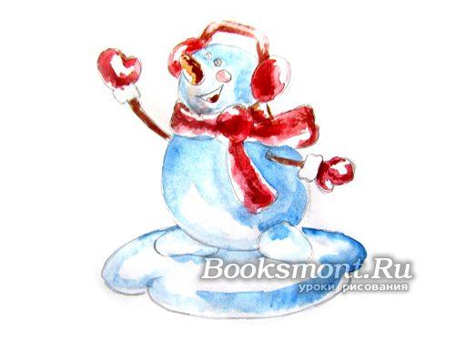 Придаем насыщенность снеговику