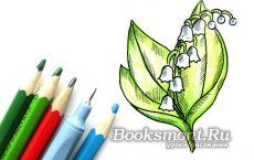 готовый рисунок ландыша карандашом