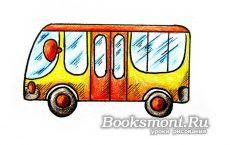 автобус карандашами
