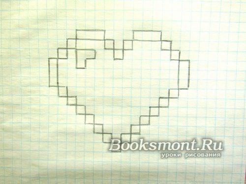 Создаем блик на сердце с верхней левой стороны