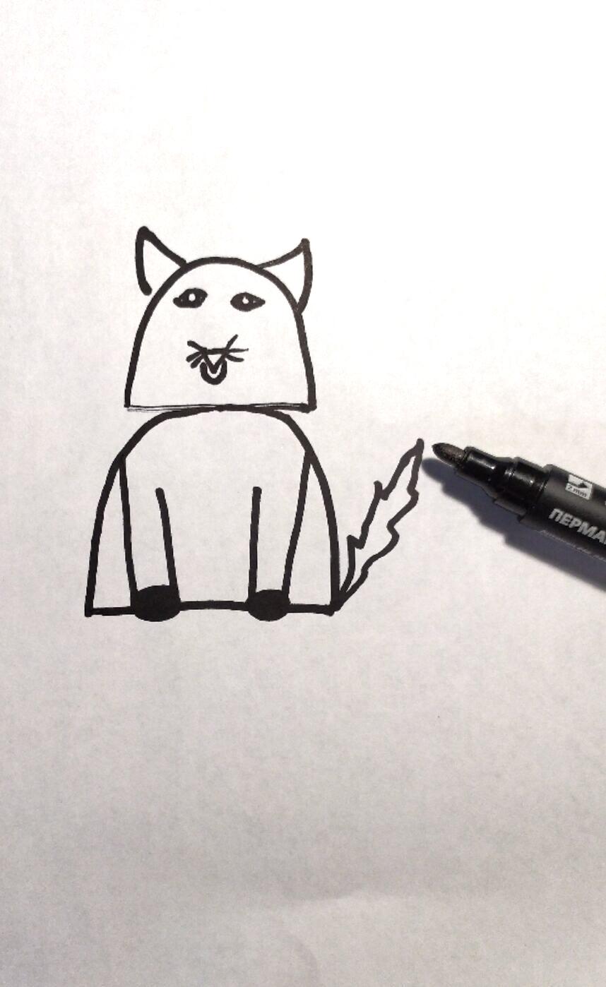 Как нарисовать кошку поэтапно akjvfcnthjv