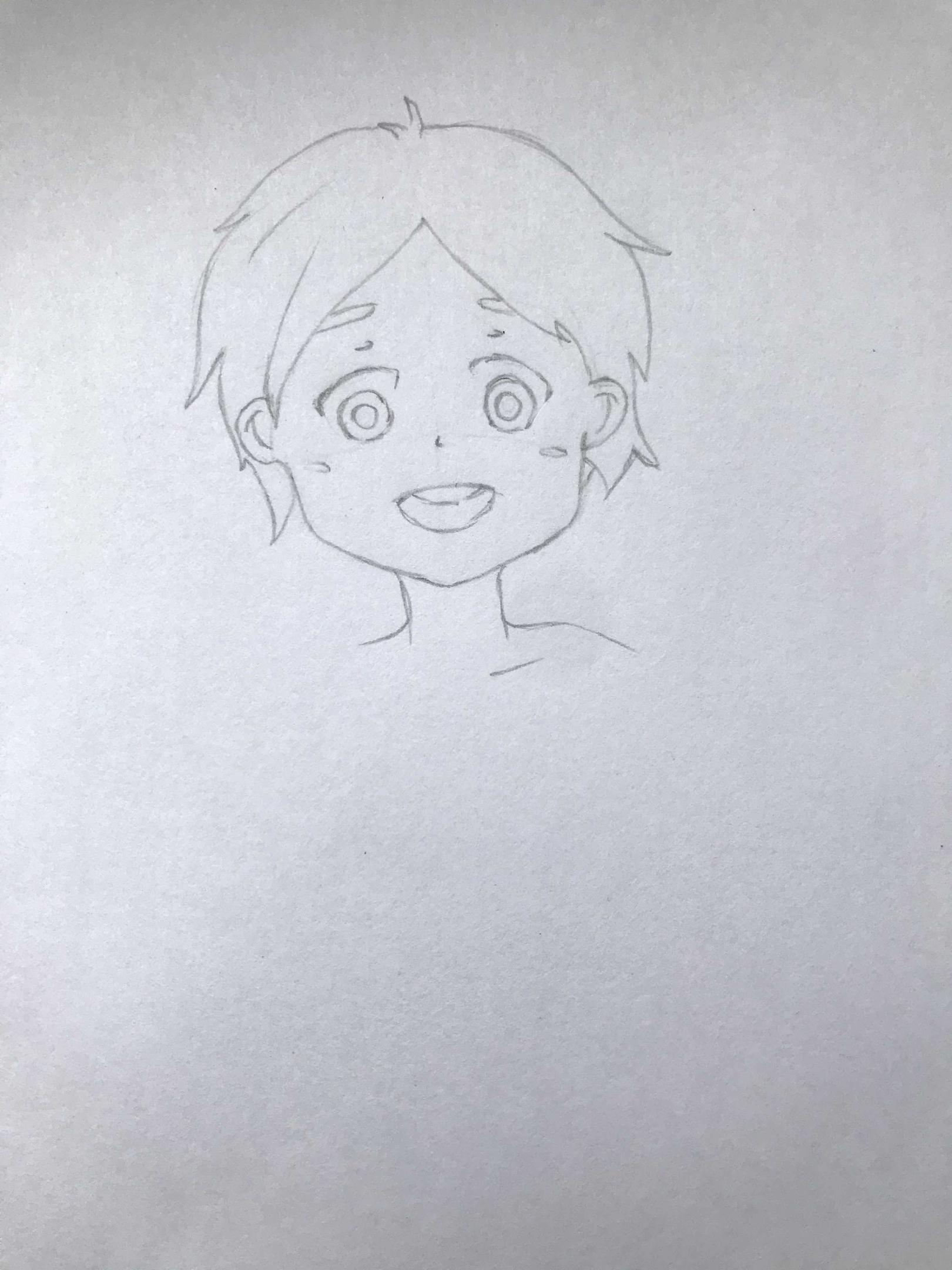 Как нарисовать ребенка поэтапно карандашом