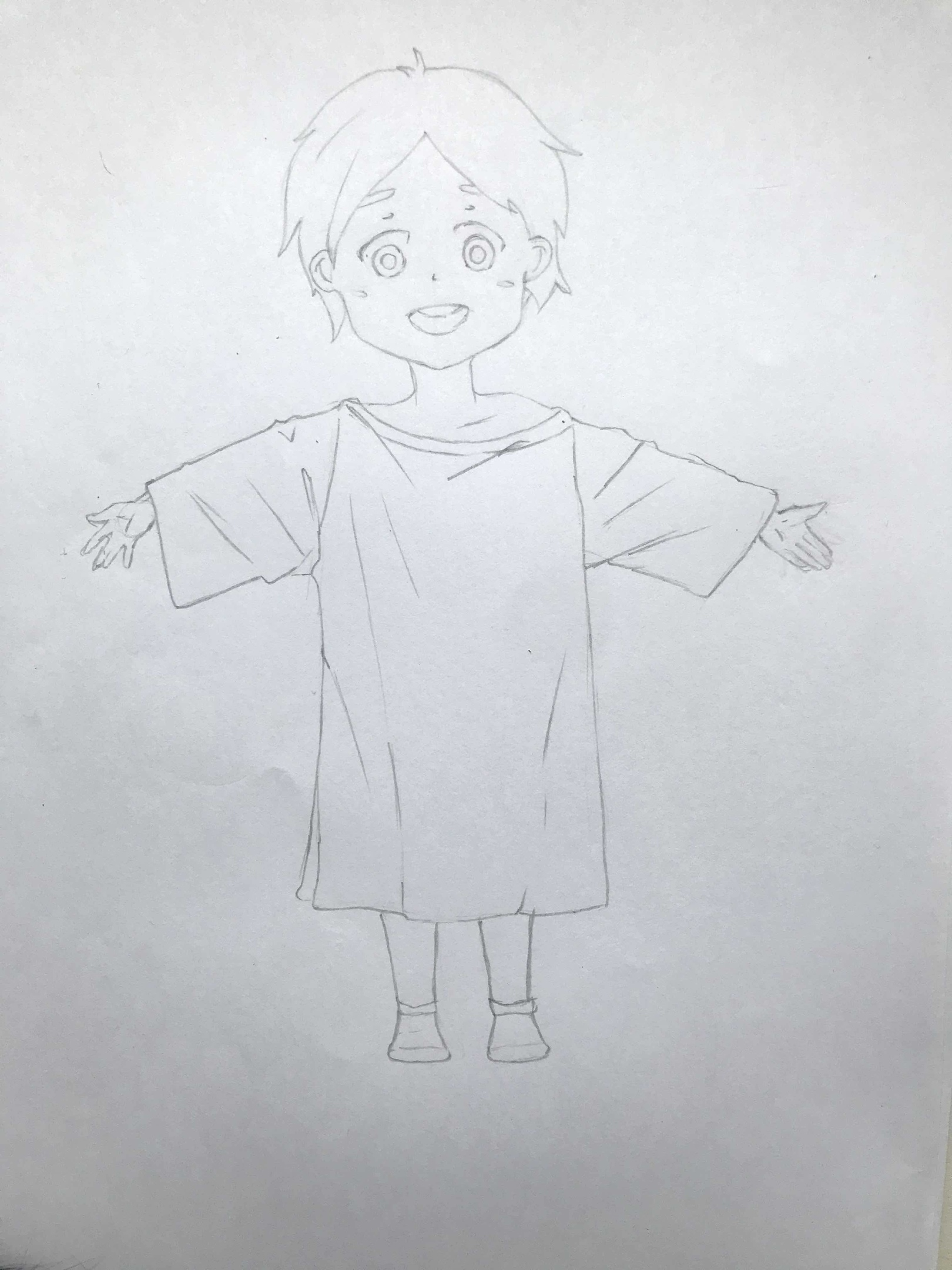 Как нарисовать ребенка в пижаме поэтапно