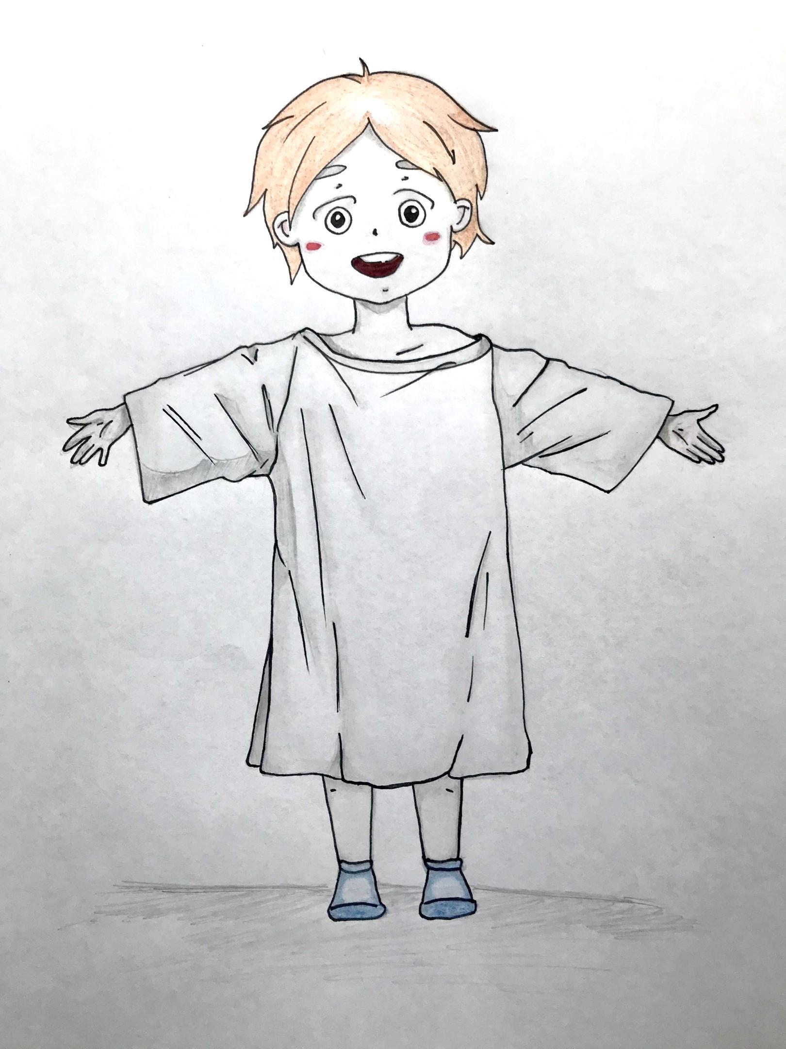 Как нарисовать ребенка поэтапно в стиле манга