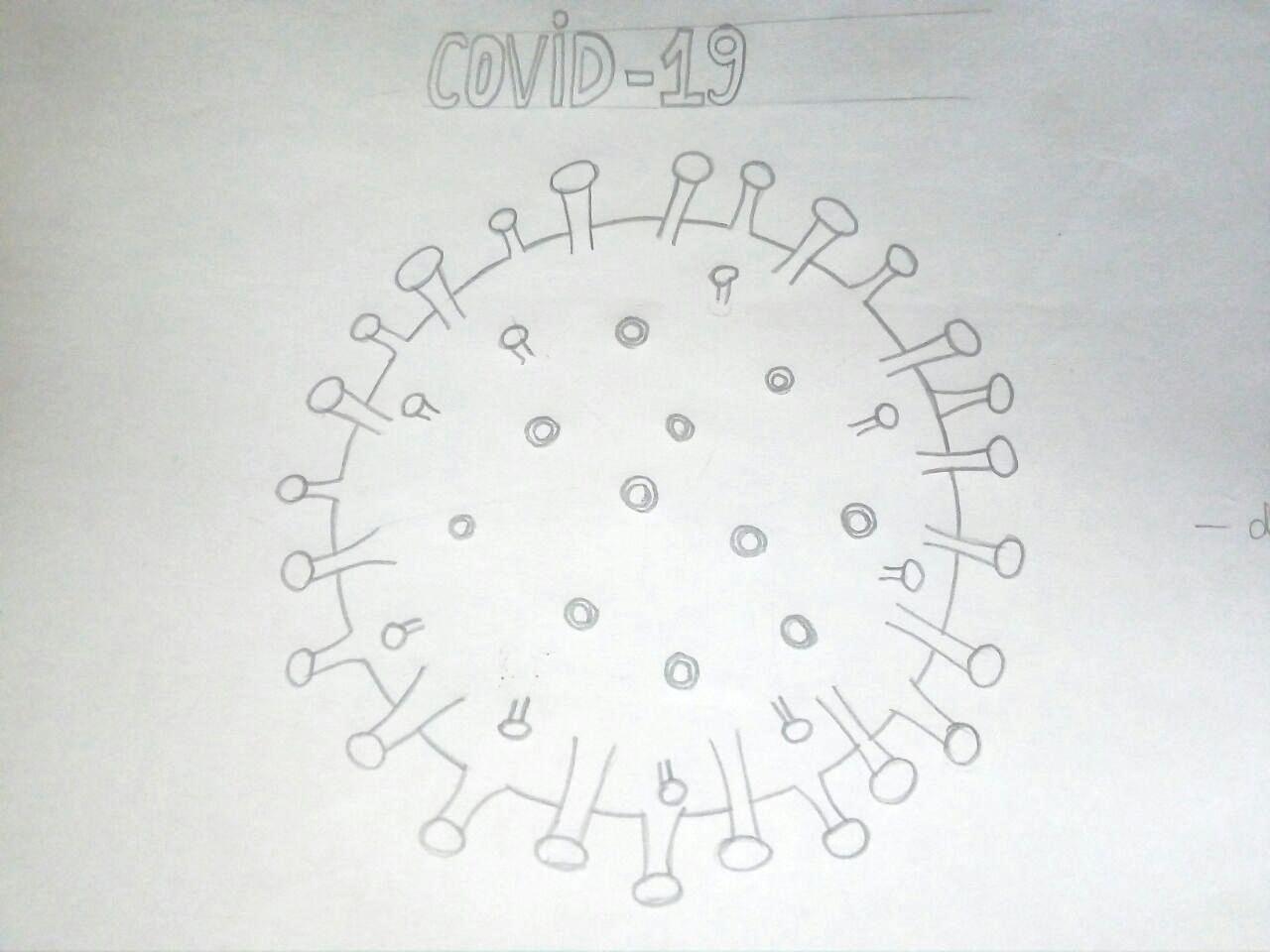 Как нарисовать коронавирус карандашом