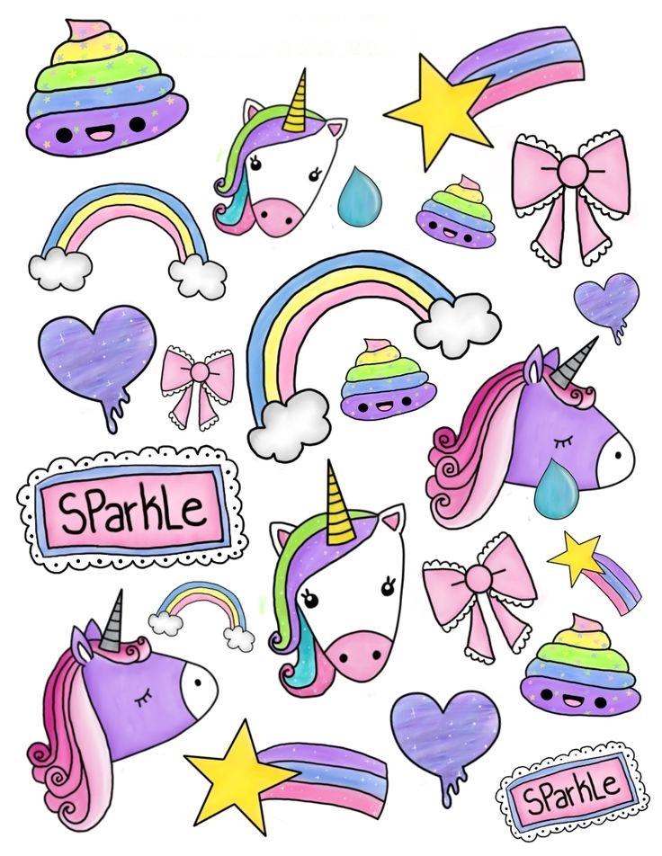 Милые стикеры для личного дневника