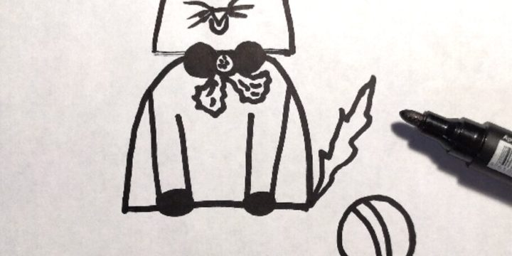 Миниатюра к статье Как нарисовать кошку  фломастером легко и красиво