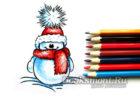 Миниатюра к статье Как легко и красиво нарисовать снеговика