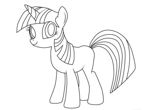 Миниатюра к статье Как рисовать пони Искорку из мультфильма про дружбу