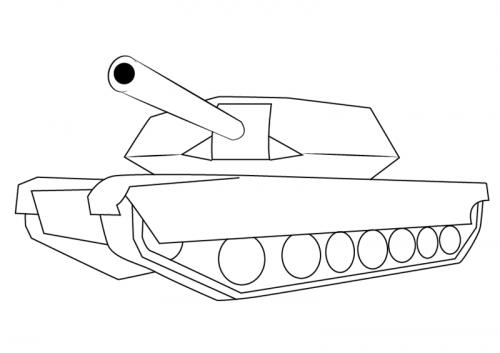 Миниатюра к статье Как нарисовать танк поэтапно
