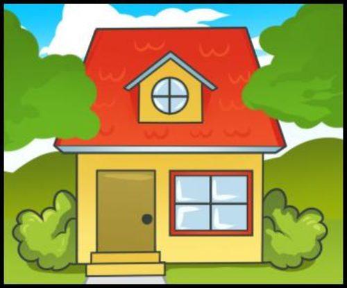 Миниатюра к статье Как нарисовать дом — несложный вариант для детей