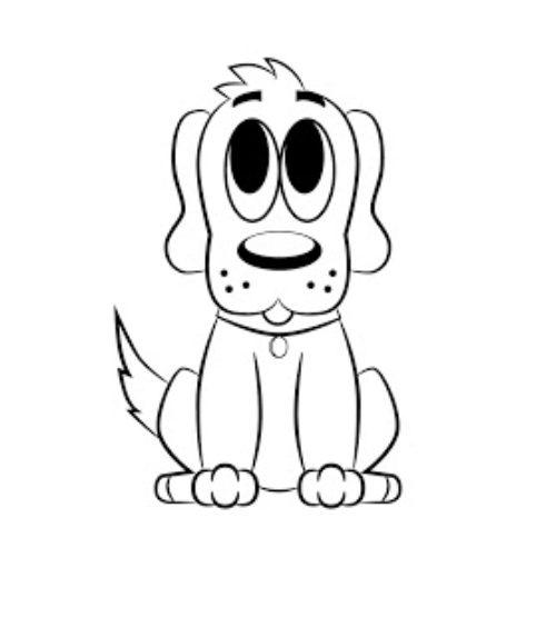 Миниатюра к статье Как нарисовать собаку поэтапно