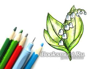 Миниатюра к статье Поэтапное рисование ландышей карандашом