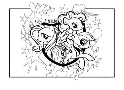 Миниатюра к статье Раскраски пони из мультфильма My Little Pony