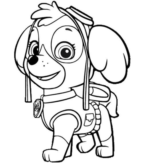 раскраска щенячий патруль раскрашиваем героев мультфильма